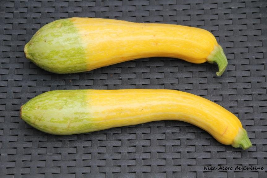 courgettes jaunes et vertes